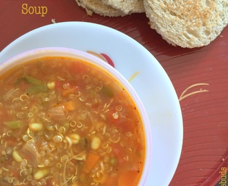 Quinoa Minestrone Soup | Weekday Dinners | Gluten Free and Vegan