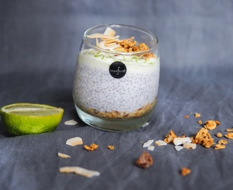 Key lime pie chiapudding