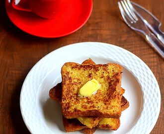 Eggless French Toast Recipe – Bread Toast Without Egg
