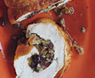 Turkey Roulade with Cider Sauce