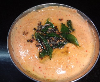 Coconut red chilli Chutney/ Restaurant style red chilli coconut chutney