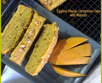 Eggless Mango Cardamon Walnut Quick Bread for #Breadbakers