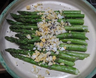 Roasted Asparagus with Hard-Cooked Eggs and Sesame Salt