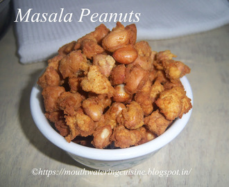 Masala Peanuts Recipe -- How to make Masala Peanuts Recipe