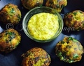 Chickpea & Spinach Fritters In Appe Pan