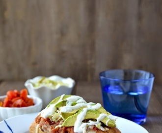 Vegetarian Molletes - Mexican Open Face Sandwich