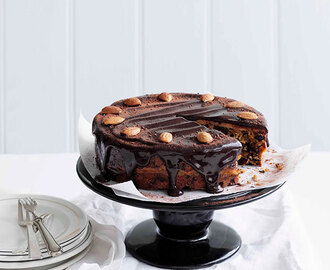 Chocolate and almond simnel cake