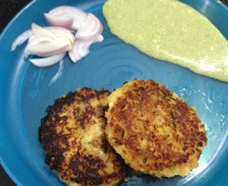 Sweet Potatoes and Paneer Cutlets/Kebabs