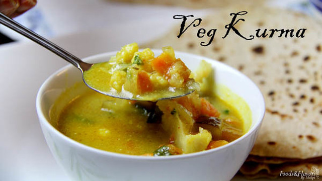 Veg Kurma Recipe | How to Make Vegetable Kurma Recipe | Indian Recipes