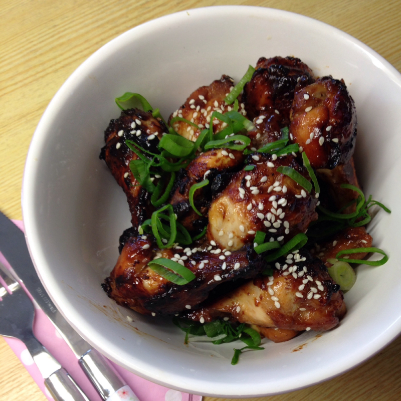 super easy honey soy chicken wings