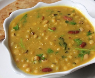Mixed Legumes Curry Recipe / Gujarati Beans Curry Recipe