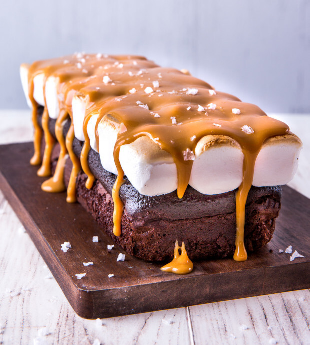 S'more Salted Caramel Cake