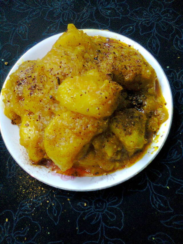 Side Dish For Roti/Paratha  –  Spicy Potatoes/Shukha Aloo