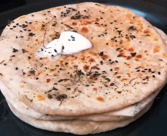 Aloo Kulcha (Potato Stuffed Indian Bread)