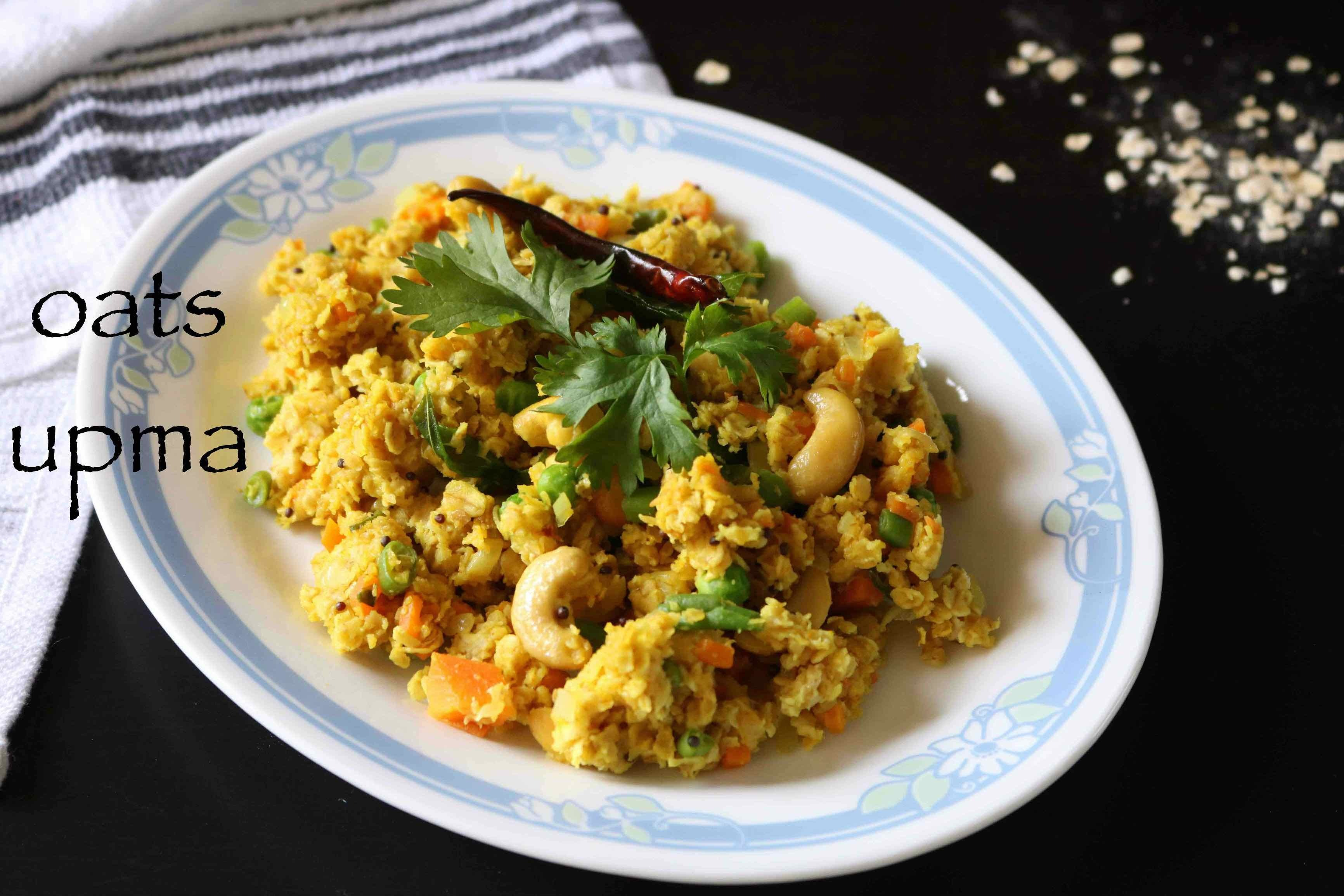 oats upma recipe | healthy masala oats upma recipe