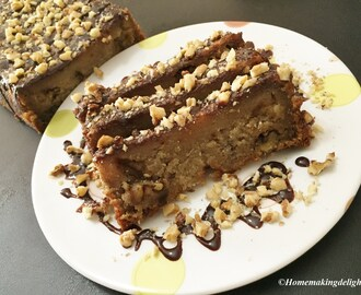 Eggless Banana Walnut Cake Recipe – Easy Homemade fruit cake