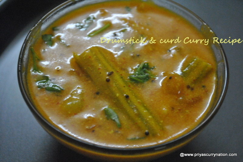 Drumstick curry recipe,how to make drumstick and yogurt curry at home