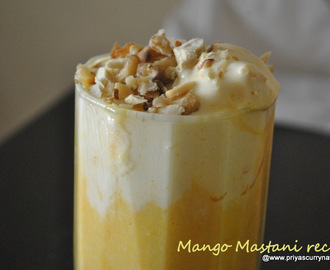 Mango Mastani Recipe, how to make pune's Mango mastani at home