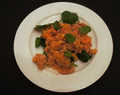 African sweet potato and tomato quinoa
