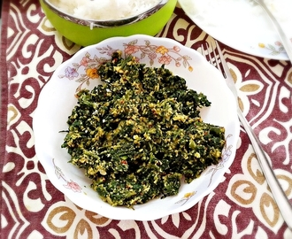 Palak Thoran / Cheera Thoran – Stir fried spinach with coconut