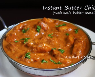 BUTTER CHICKEN / MURGH MAKHANI RECIPE WITH BASIC BUTTER MASALA