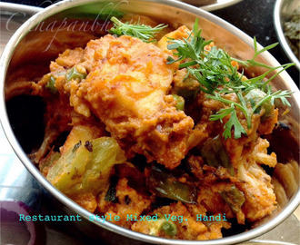 Resturant style Mixed Veg. handi/ Mixed vegetable in rich Creamy Sauce