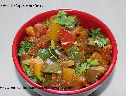 Brinjal And Capsicum Curry