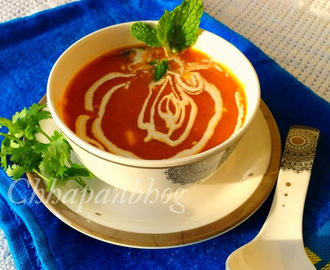 Restaurant style Cream Of Tomato Soup