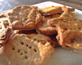 Whole Wheat Onion and Sesame salty crackers