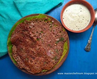 Ragi Dosai | Ragi Dosa| Finger Millet Crepes from South India | How to make Ragi Dosai at home| Stepwise Pictures | Instant Dosa Recipe