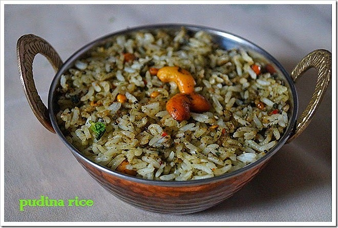 PUDINA RICE/MINT RICE