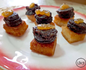 MORCILLA Y MERMELADA/ BLACK PUDDING AND JAM