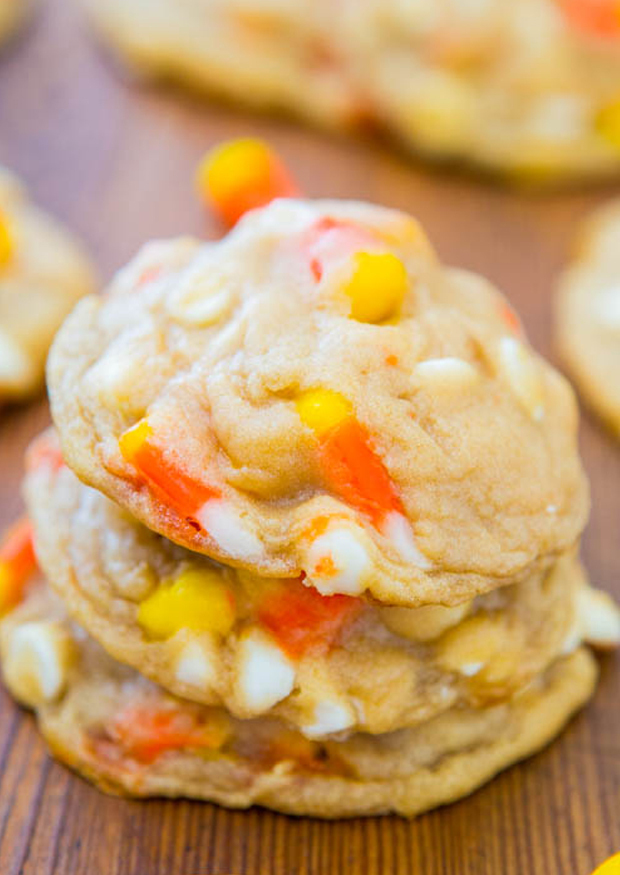 Candy Corn Crunch Cookies