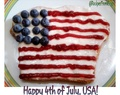 4th of July Bread :USA Flag