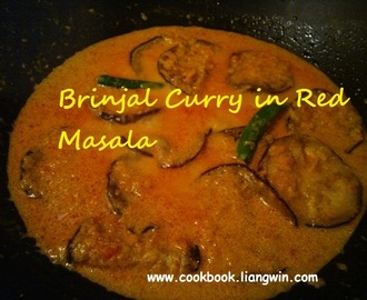Brinjal Curry in Red Masala