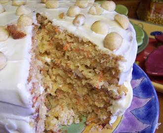 Tropical Carrot Cake with Coconut Cream Frosting
