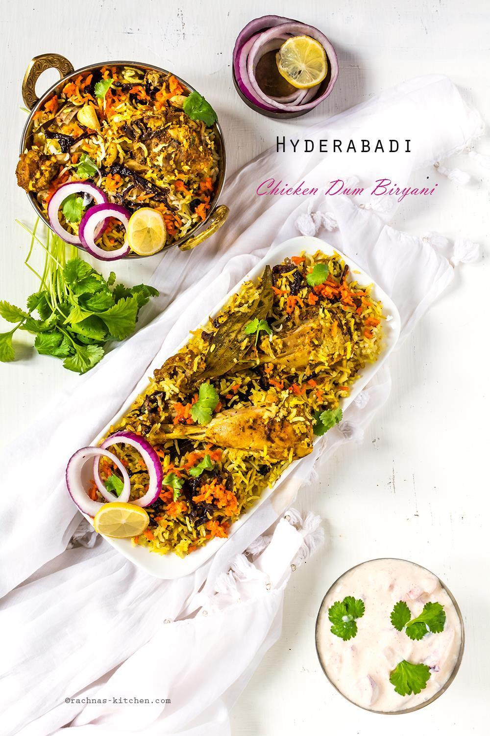 Hyderabadi Chicken Biryani Recipe, Chicken Dum Biryani Recipe