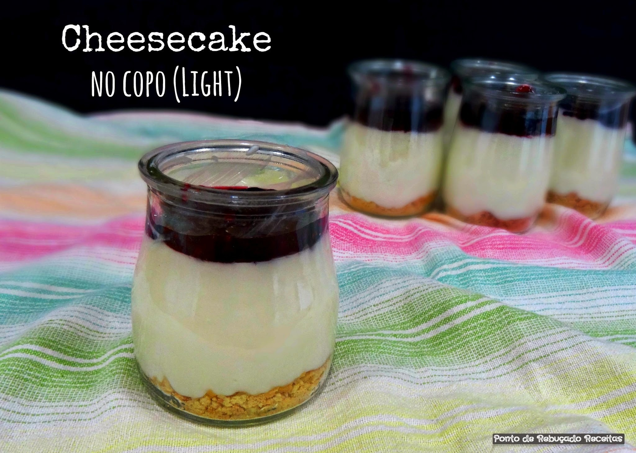 Cheesecake no copo (light)