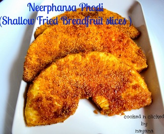 Phanas Phodi ( Shallow Fried Bread Fruit Slices )