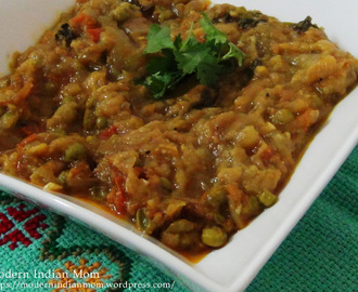 Baigan Bharta / Roasted Eggplant in Indian spices