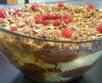 Trifle de mousse de chocolate e Nutella cookies