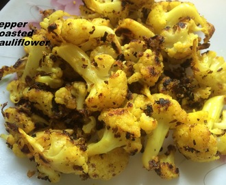 Pepper Roasted Cauliflower