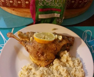Pato Assado no Forno Com Arroz