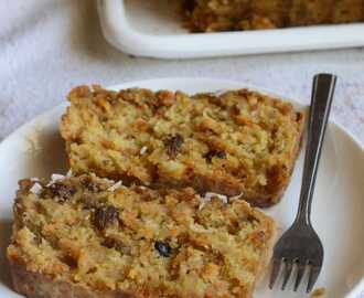 Eggless Carrot Coconut Quick Bread – #BreadBakers