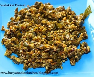 Vendakkai Poriyal (Ladies Finger Poriyal)