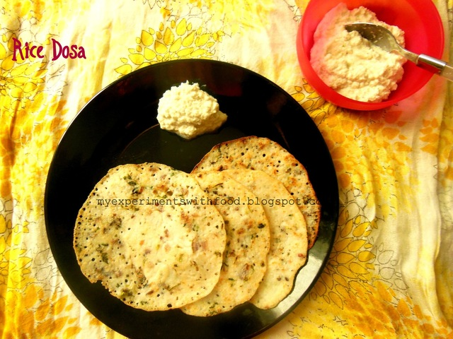 Quick Instant Rice Dosa with Leftover Rice