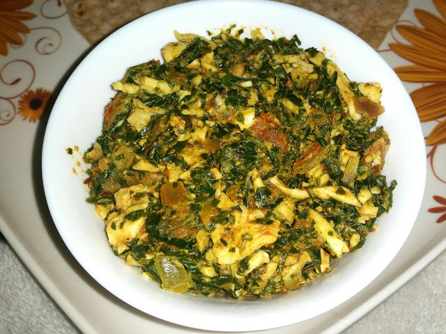 Egg Kheema with Drumstick Leaves