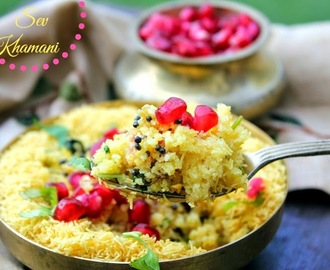 Sev Khamani - A Gujrati Speciality for Indian Cooking Challenge