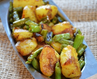 Aloo Beans Recipe, How To Make Beans Potato Curry