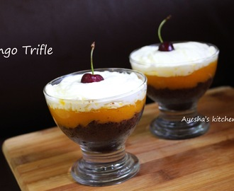 EASY DESSERT RECIPE WITH FRUITS - MANGO  LIME TRIFLE